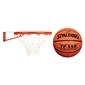 Obręcz do koszykówki kosza z siatką new port + piłka spalding tf-150 fiba
