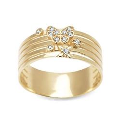 Staviori pierścionek. cyrkonia. żółte złoto 0,333.