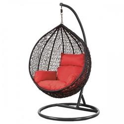 Fotel wiszący bujany kosz huśtawka gniazdo kokon czarny