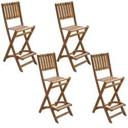Zestaw ogrodowy składany stół + 4 krzesła imatra drewniany