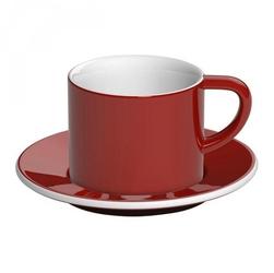 Filiżanka ze spodkiem czerwona Bond Cappuccino Loveramics