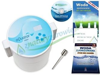 Jonizator wody aquator mini silver poj. 1,5 l, najnowszy model z elektrodą srebrną + 4 gratisy  oferta promocyjna