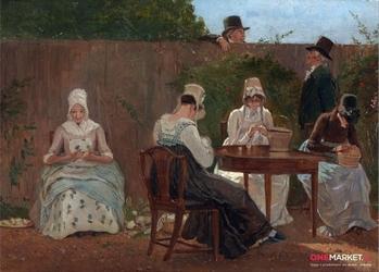 rodzina chalon w londynie -  jacques-laurent agasse ; obraz - reprodukcja