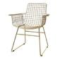 Hk living :: metalowe krzesło druciane wire mosiądz