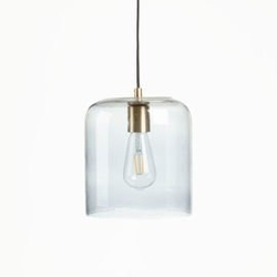 Szklana lampa sufitowa bee szara