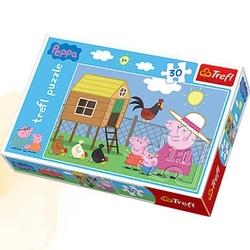 Trefl puzzle 30el świnka peppa w kurniku 81951