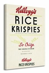 Vintage Kelloggs Rice Krispies - Obraz na płótnie