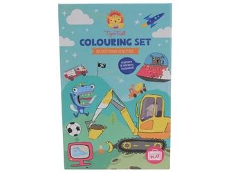 Kolorowanka dla chłopców z piskami zestaw kreatywny