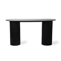 Hkliving stolik pillar owalny czarny mta2834