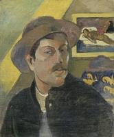 Reprodukcja self-portrait with a hat, gauguin paul