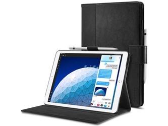 Etui spigen stand folio do apple ipad air 3 2019 pro 10.5 black + szkło alogy