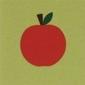 Skórzano-papierowa kartka jabłko