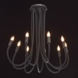 Nowoczesna lampa sufitowa regulowana na 9 żarówek regenbogen megapolis 646011709