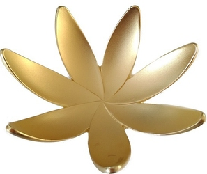 Pojemnik na pierścionki magnolia złoty