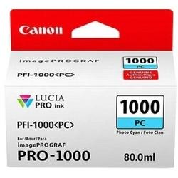 Tusz oryginalny canon pfi-1000pc 0550c001 błękitny foto - darmowa dostawa w 24h