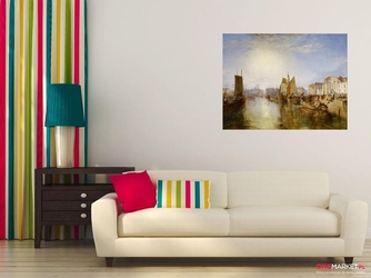 port w dieppe  william turner ; obraz - reprodukcja