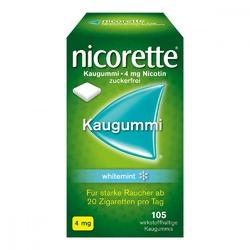 Nicorette kaugummi 4 mg whitemint