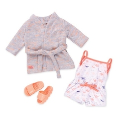 Our generation, zestaw ubranek dla lalek piżamka i szlafrok