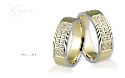Obrączki ślubne - wzór au-684