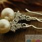 Piramida - srebrne kolczyki z perłami i cyrkoniami
