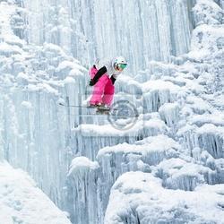 Plakat salto su cascata di ghiaccio