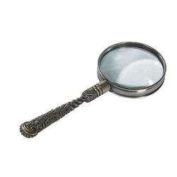 Authentic models szkło piwiększające, rococo magnifier, mosiądz ac113