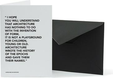 Kartka z kopertą architects quotes playground