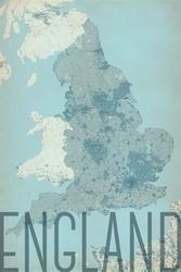 England, vintage - mapa