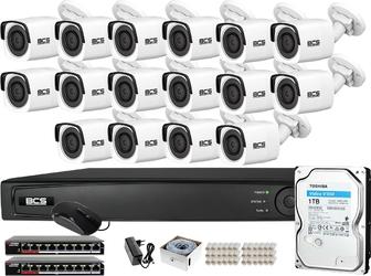 Zm14094 zestaw monitoringu bcs view rejestrator ip 16x kamera 2mp bcs-v-ti221ir3
