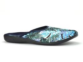 Pantofle pełne adanex 25908 niebieskie