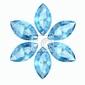 Naklejka aquamarine wysokiej rozdzielczości obrazu 3d