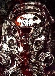 Legends of bedlam - raynor, starcraft - plakat wymiar do wyboru: 59,4x84,1 cm