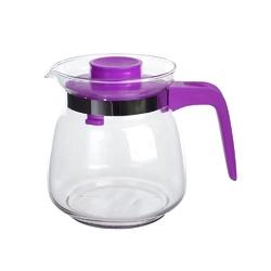 Dzbanek do herbaty, kawy, wody i soku szklany altom design 1 l fioletowy