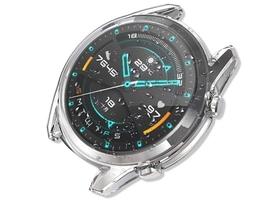 Etui silikonowe alogy do huawei watch gt 2 sport classic 46mm przezroczyste - przezroczysty
