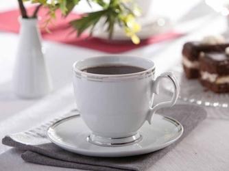 Filiżanka do cappuccino ze spodkiem porcelana mariapaula platynowa linia 350 ml