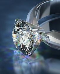 Fototapeta pierścionek z brylantem