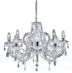 Marietherese lampa wisząca 8 chrom kryształ