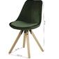 Krzesło do jadalni dema skandynawskie welur