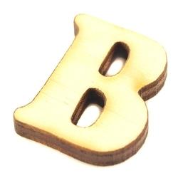 Drewniana literka do rękodzieła - b - b
