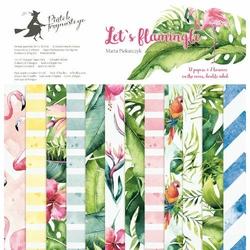 Papier Lets flamingle 30,5x30,5 cm - zestaw