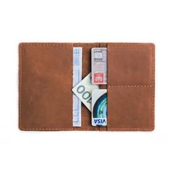Jasno brązowy portfel slim wallet brodrene sw01