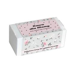 Kawa dla mamy w kwiecistym pudełku - prezent upominek z kawą aromatyzowaną dla mamy z okazji dnia matki - 20 smaków x 10g