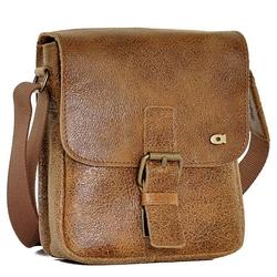 Daag jazzy wanted 86 brązowa torba skórzana unisex listonoszka przez ramię - brązowy