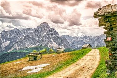 Górskie chatki – plakat wymiar do wyboru: 50x40 cm