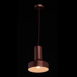 Lampka wisząca - czerwona miedź - 20 cm mw-light megapolis 715010501