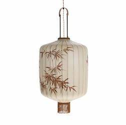 HK LIVING :: LAMPA WISZĄCA LAMPION TRADYCYJNA XL KREMOWA - beżowy