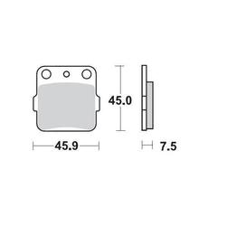 Klocki hamulcowe kh84 metaliczne: 12 kawasaki: kx 65-80-85-100, honda: trx 300-400 ex, moto-master m091412