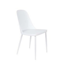 Krzesło do jadalni pasto białe szer. 46 cm