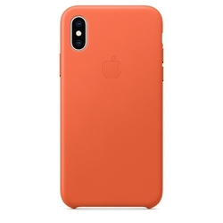 Apple etui skórzane iphone xs - oranż