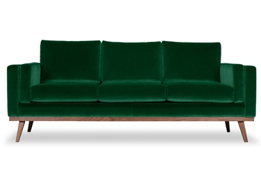 Sofa nenuphar 3-osobowa welurowa welur bawełna 100 zielony